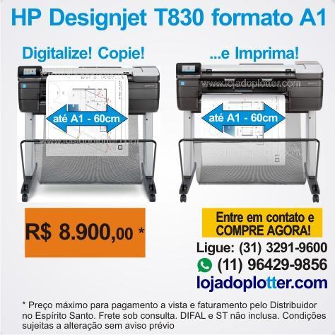 Plotter HP Designjet T830 Mais uma em São Paulo