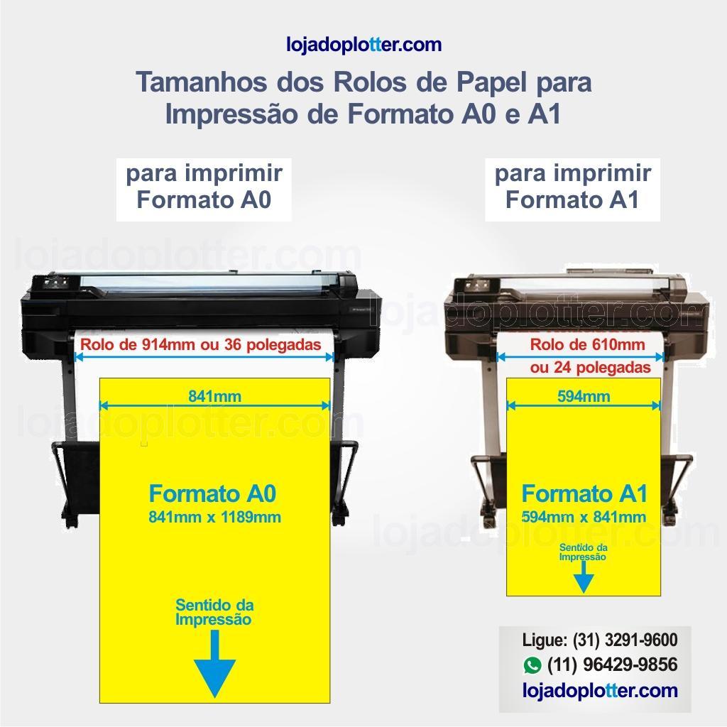 Veja qual tamanho de rolo comprar para seu plotter para imprimir formato A0 e A1 da ABNT