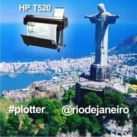 Mais uma Plotter HP Designjet T520 no Rio de Janeiro RJ