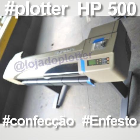 Plotter Usada HP 500 para Confecção, Modelagem e Enfesto