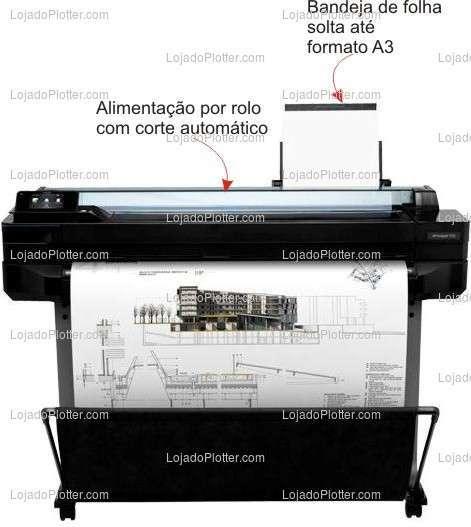 Plotter HP Designjet T520 em São Paulo SP