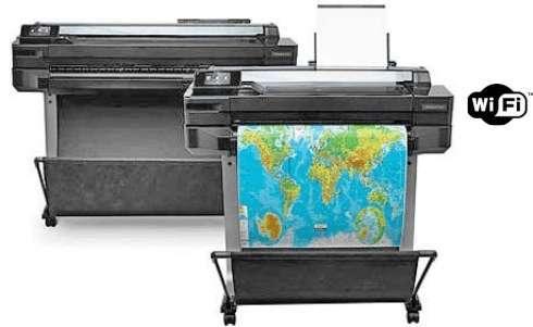 Plotter HP Desigjet T520 formato A0 e formato A1