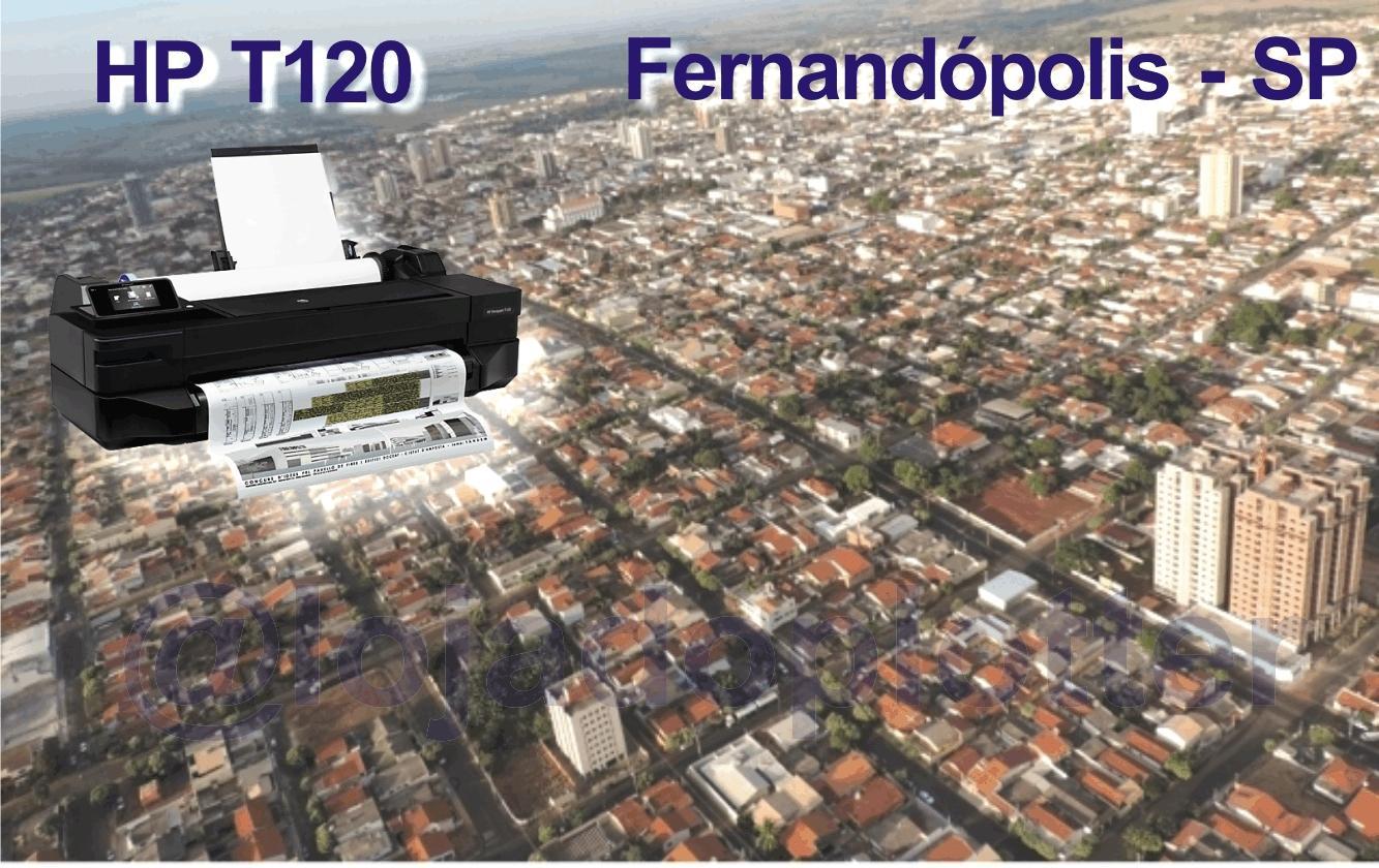 Impressora HP formato A1 Plotter T120 em Fernandópolis SP