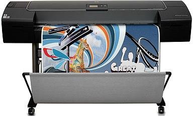 Impressora fotográfica HP Designjet Z2100 com 8 cartuchos de tinta de cores