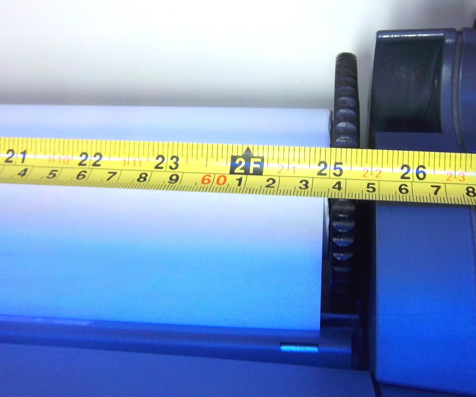 Tamanho do Rolo de Papel para Plotter HP T120 em detalhe