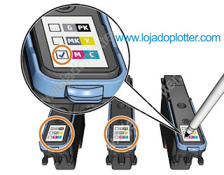 Detalhe do Plotter T1700 Cabeças de Impressão