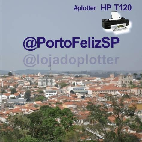 Plotter HP Designjet T120 vendida em Porto Feliz no Estado de São Paulo