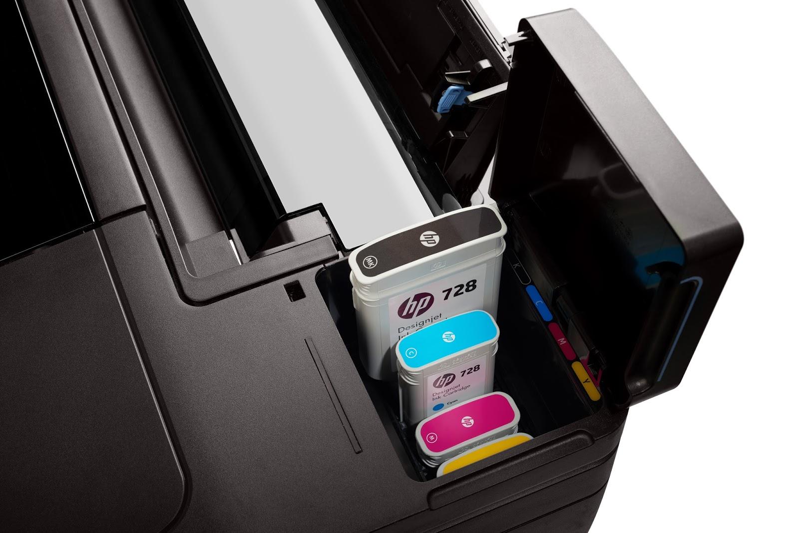 Cartuchos de Tinta da plotter HP Designjet T730formato A0