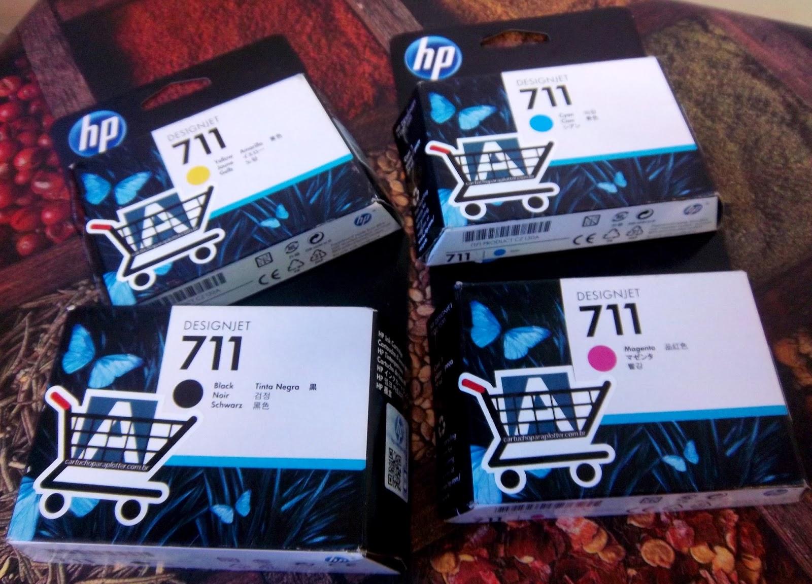Cartuchos de Tinta Originais da HP Designjet T520 e T120