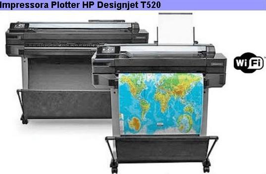 Na foto acima estão mostrados como exemplo os PLOTTERs da linha HP  DESIGNJET T520 nos tamanhos de 24″ e 36″. Os números 24 e 36 se referem a  sua medida em ... 768d9ae54e