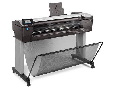 Plotter HP T830 é impressora, copiadora e scanner de grande formato em um só equipamento