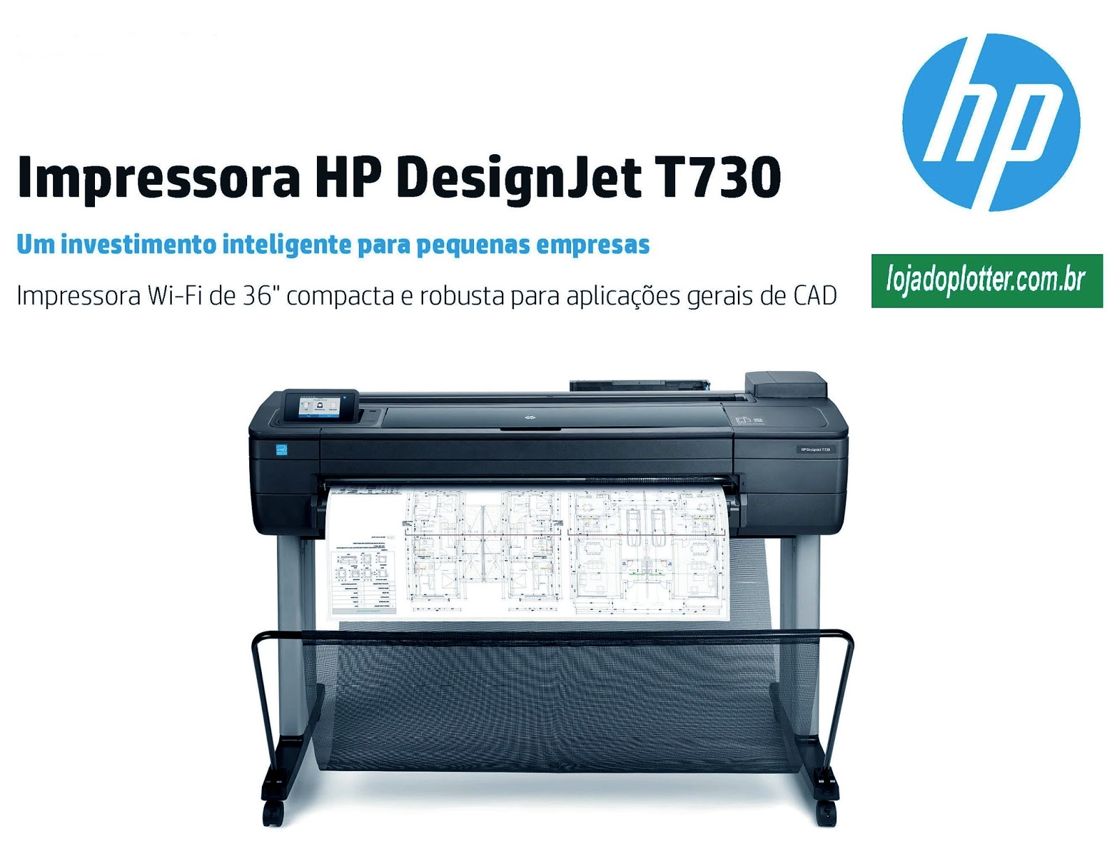 plotter HP Designjet T730formato A0 vendido pela loja do plotter