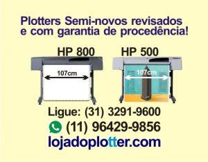 Procure por impressoras plotter usados e seminovos revisados e testados como os da Loja do Plotter