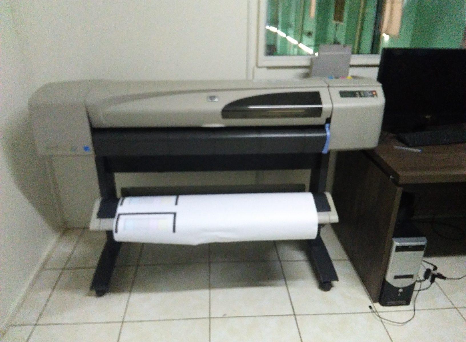Plotter Seminovo para Confeção HP Designjet 500 vendido em São Paulo – Cidade de Taguaí