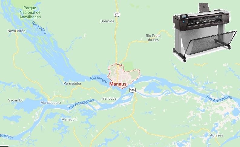 A Loja do Plotter vendeu e entregou mais um plotter HP com Scanner em Manaus, Amazonas. Veja porque o HP Designjet T830 foi a impressora escolhida