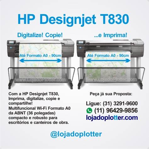 Plotter HP T830 Com Scanner