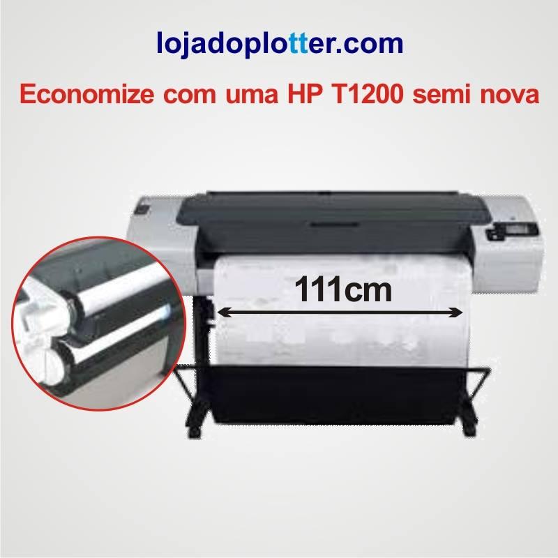 Plotter HP Designjet T1200 com 2 rolos