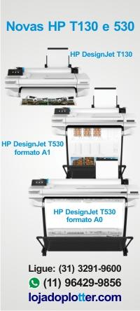 Novas Plotter HP DesignJet T130 e HP T530