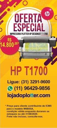 Plotter HP T1700 em promocao por R$ 14.800,00