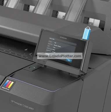 "Tela ""TouchScreen"" da Plotter HP Designjet T2500"