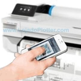 HP Designjet T130 Use seu notebook wireless, smartphone, tablet Apple® ou Android™ para imprimir de virtualmente qualquer lugar